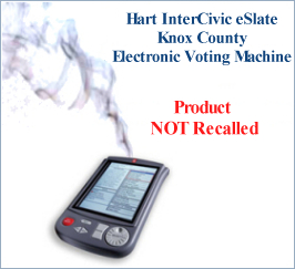 Smoking voting machine NOT recalled